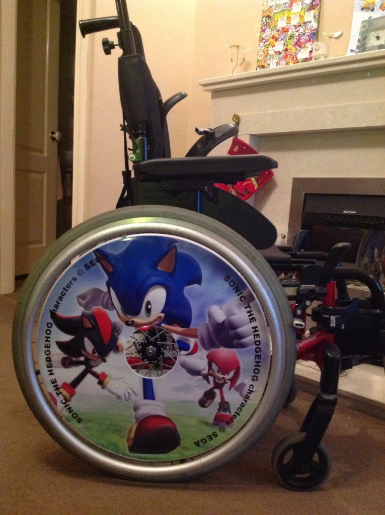 Sonic the Hedgehog Wheelchair Wheel Covers SpokeGuards