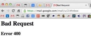 Google Bad Request