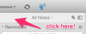 Go to Top of Evernote All Notes