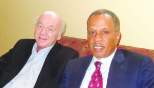 (l-r)  Juan Williams and Mick Caouette Photo by Charles Hallman