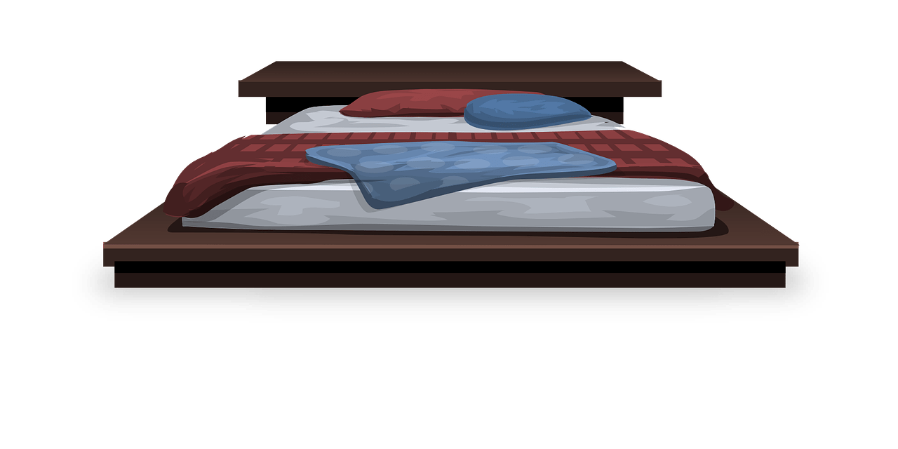 Bed Furniture Bedding Pillows - OpenClipart-Vectors / Pixabay