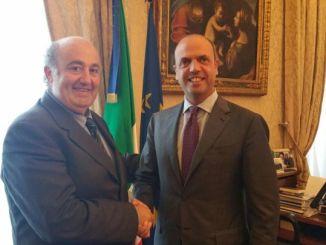 Sindaco Caldarelli incontra Ministro Alfano