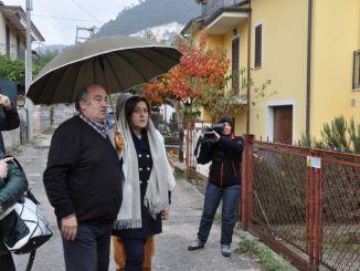 Sisma Umbria, presidente Marini a Spoleto per sopralluoghi