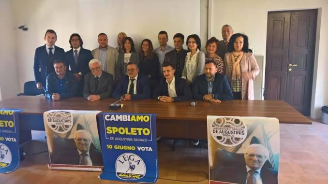 La Lega Spoleto presenta la squadra a sostegno di De Augustinis