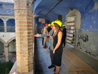 La Sottosegretaria Lucia Borgonzoni in vista al Complesso dell'Anfiteatro