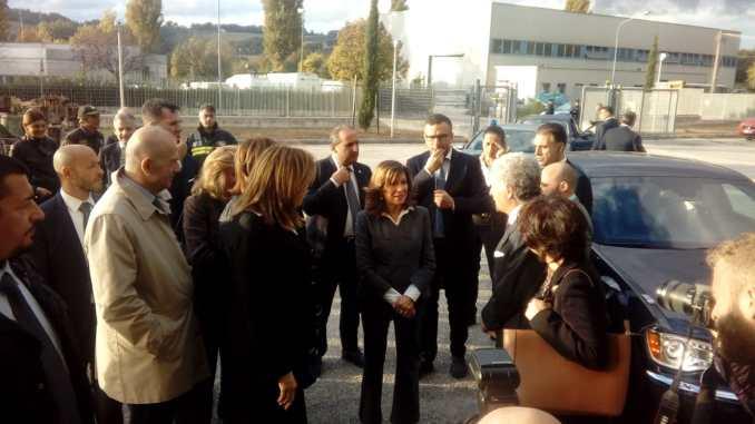 Sisma, presidente del senato Casellati in visita a Santo Chiodo