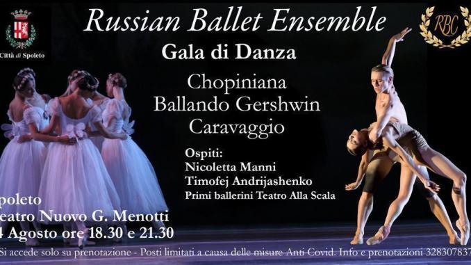 A Spoleto il Russian Ballet Ensemble, venerdì 14 agosto al Teatro Nuovo Gian Carlo Menotti