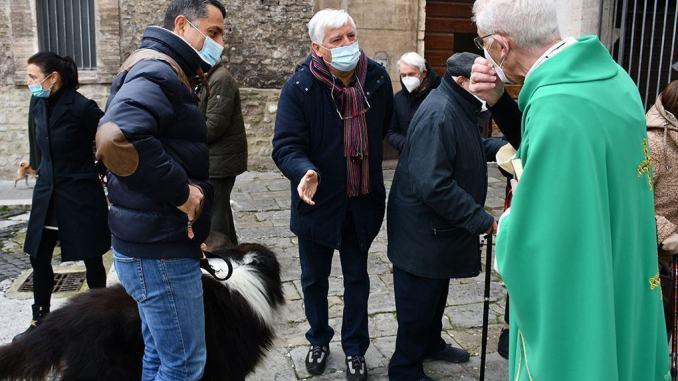 Spoleto, celebrata la festa di S. Antonio nella parrocchia di S. Gregorio