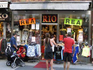 Stockholm 2008 - REA ist die schwedische Version von Schlussverkauf