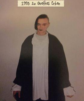 1993 kurz vor dem Konzert von Goethes Erben