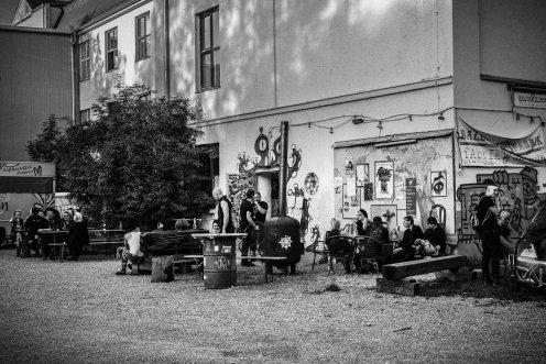 Vor der Ballonfabrik, Young&Cold 2018, Foto: Ray Montag Photography
