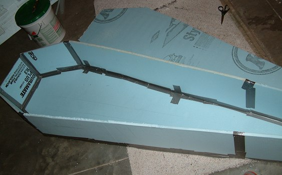 y blue s halloween home made coffin