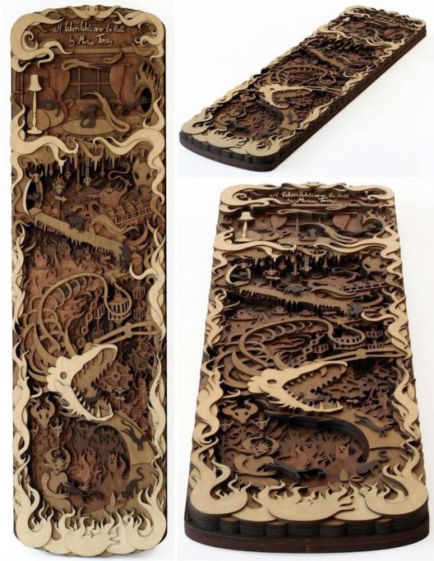 Wood cuts by Martin Tomsky--hat tip Bonni