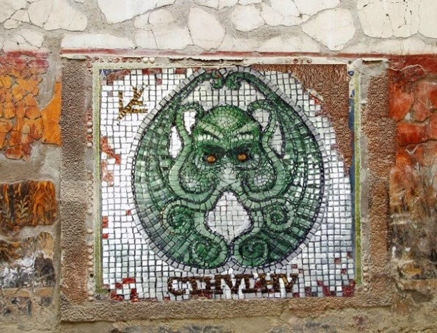 Cthulu Mosaic to adorn your ancient bath house