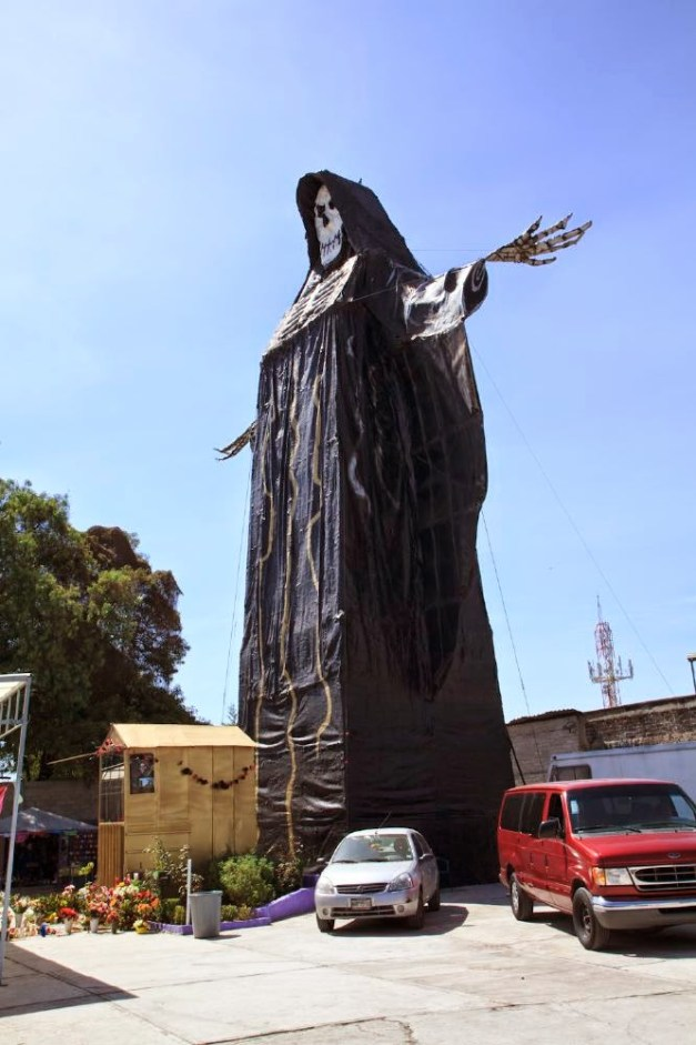 Santa Muerte shrine at Morbid Anatomy