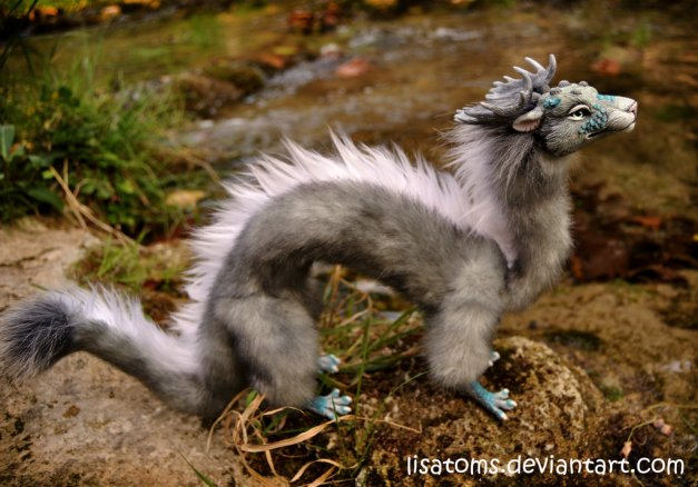 Silver Aqua Dragon Spirit