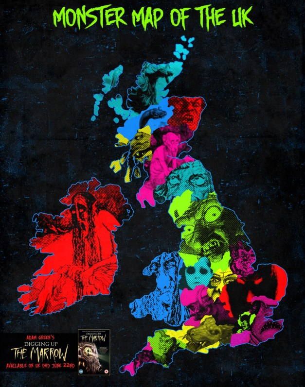Interactive Monster Map of the UK