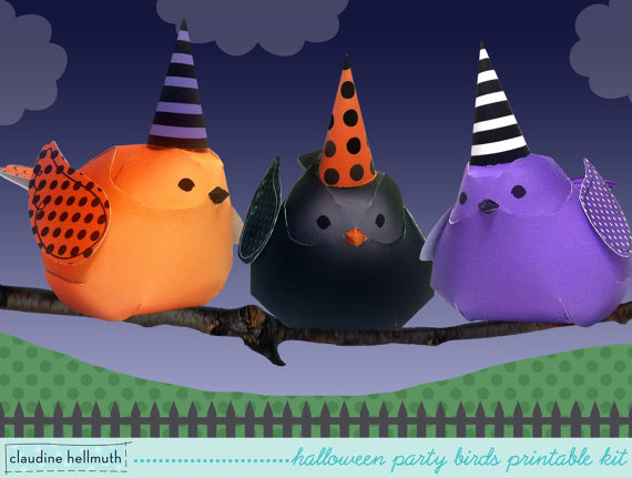 Halloween papercrafts by Claudine Hellmuth