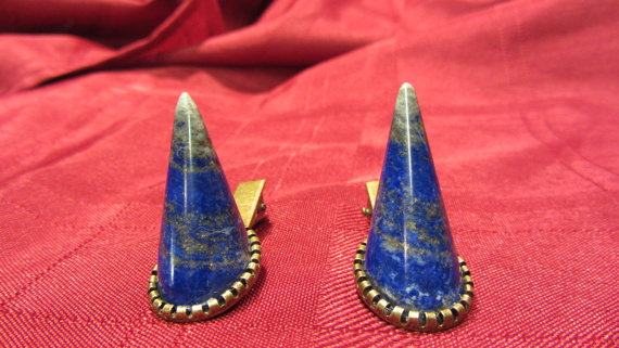 Lapis Horn Hair Clips by Under the Slab Macabre