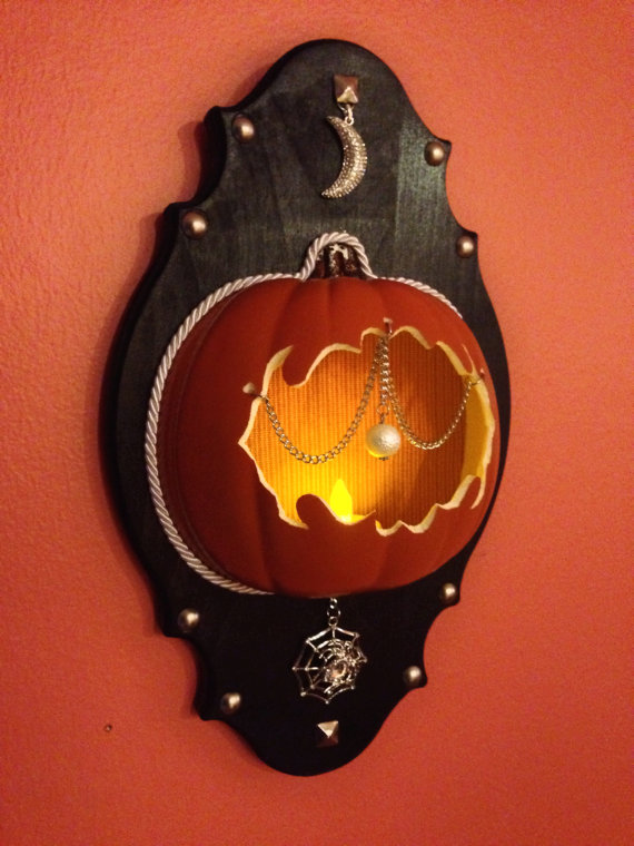Jack-O-Lantern Wall Sconce by Tres Macabre