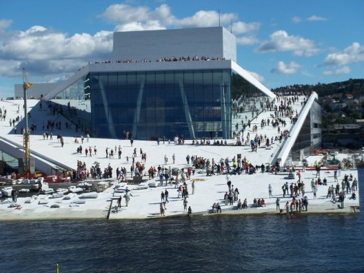 Oslo Opera House, by the architecture firm Snohetta, 2007