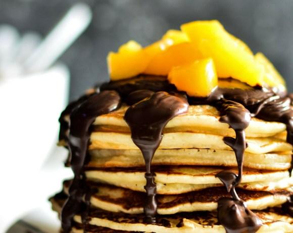 Peach & Chocolate Pancake