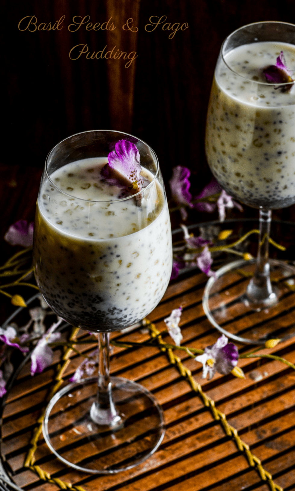 Basil Seeds & Sago Pudding