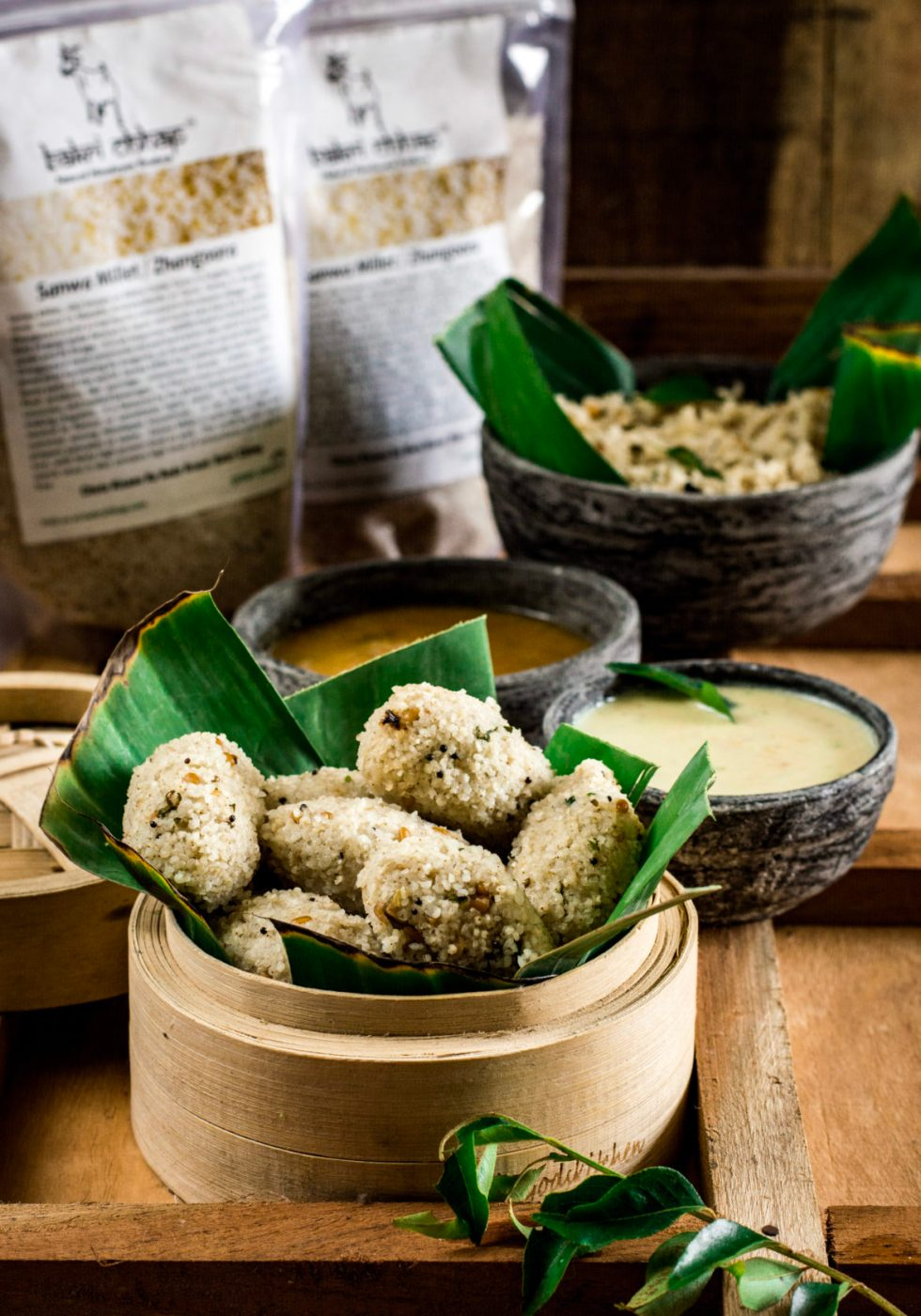 Barnyard Millet Steamed Dumplings