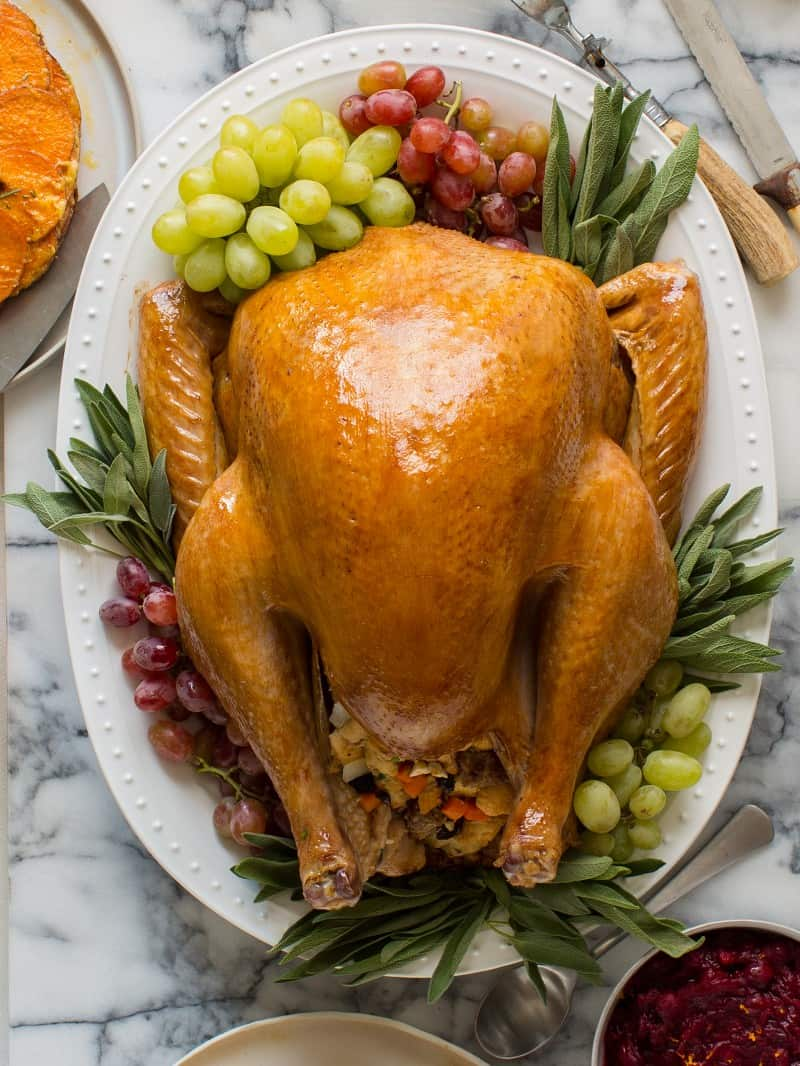 Citrus And Herb Roasted Turkey Thanksgiving Spoon Fork