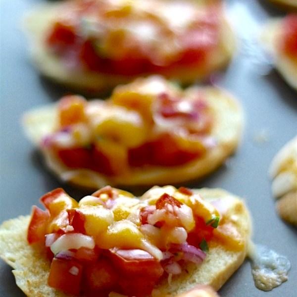 Tomato Salad Bruschetta | SpoonfulOfButter.com