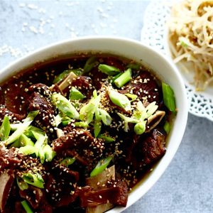Korean Beef Stew (Galbi Jjim) | SpoonfulOfButter.com