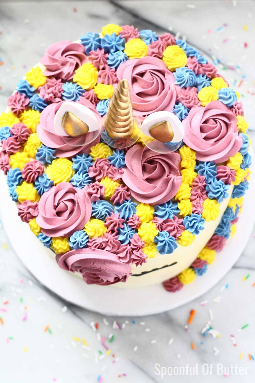 DIY Birthday Unicorn Cake 4
