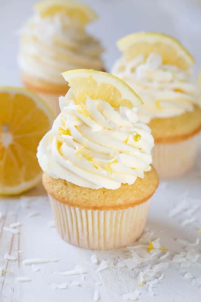 Lemon Coconut Cupcakes Spoonful Of Flavor