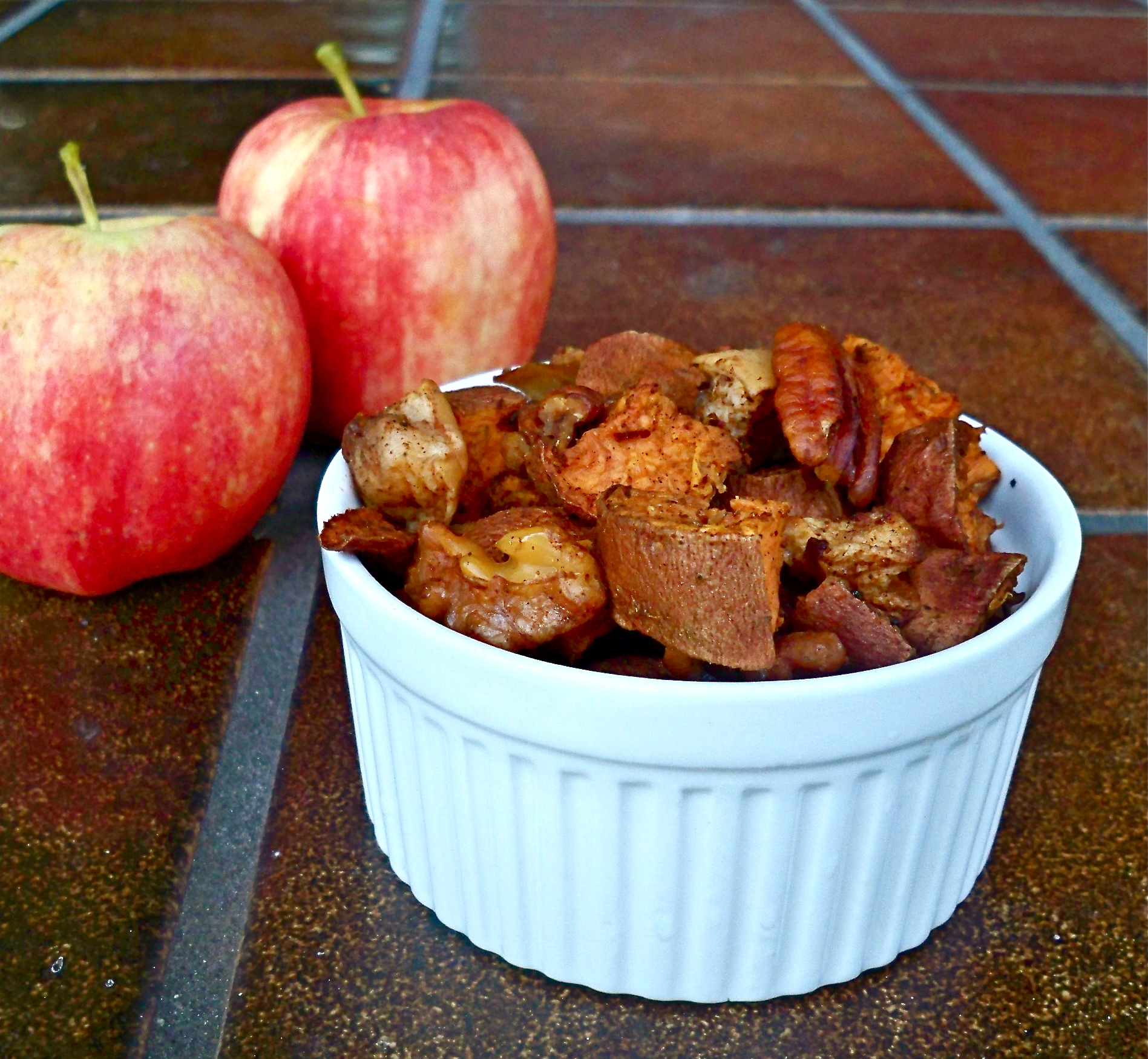 Roasted Sweet Potatoes and Apples | Spoonful of Sugar Free