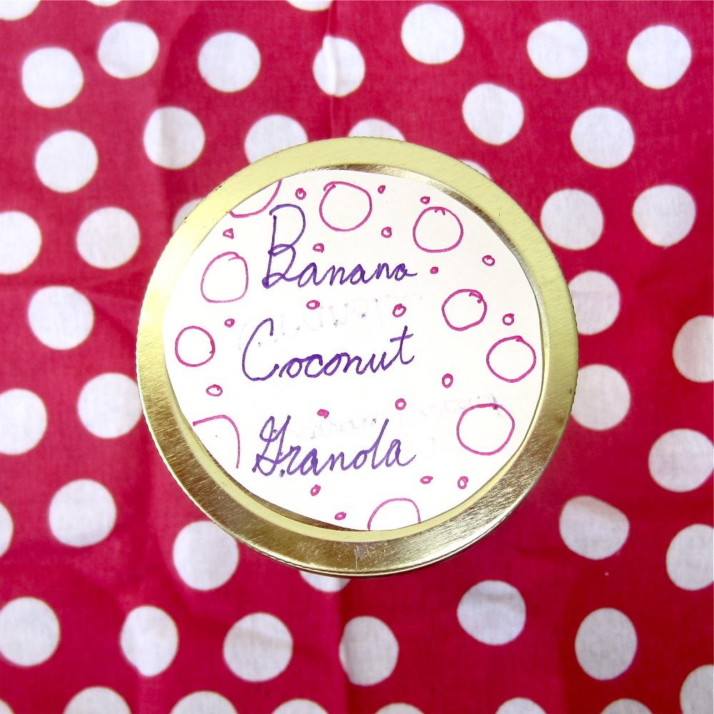 Banana Coconut Granola