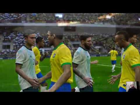 ARGENTINA vs BRAZIL | FIFA World Cup 2022 Qatar | Full Match | All Goals HD | PES 2020