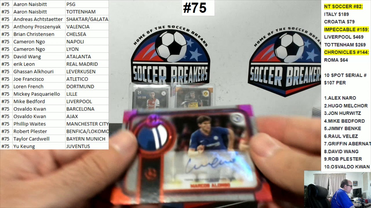 2019-20 Topps Museum Collection UEFA Champions League Soccer 4 Box PYT Break #75 SOCCER BREAKERS FC
