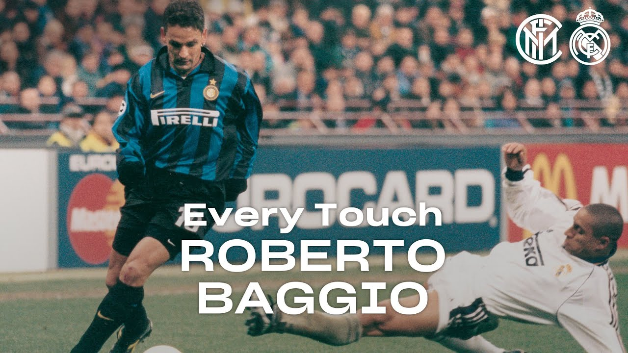 EVERY TOUCH | ROBERTO BAGGIO in INTER 3-1 REAL MADRID | 1998/99 UEFA CHAMPIONS LEAGUE ????