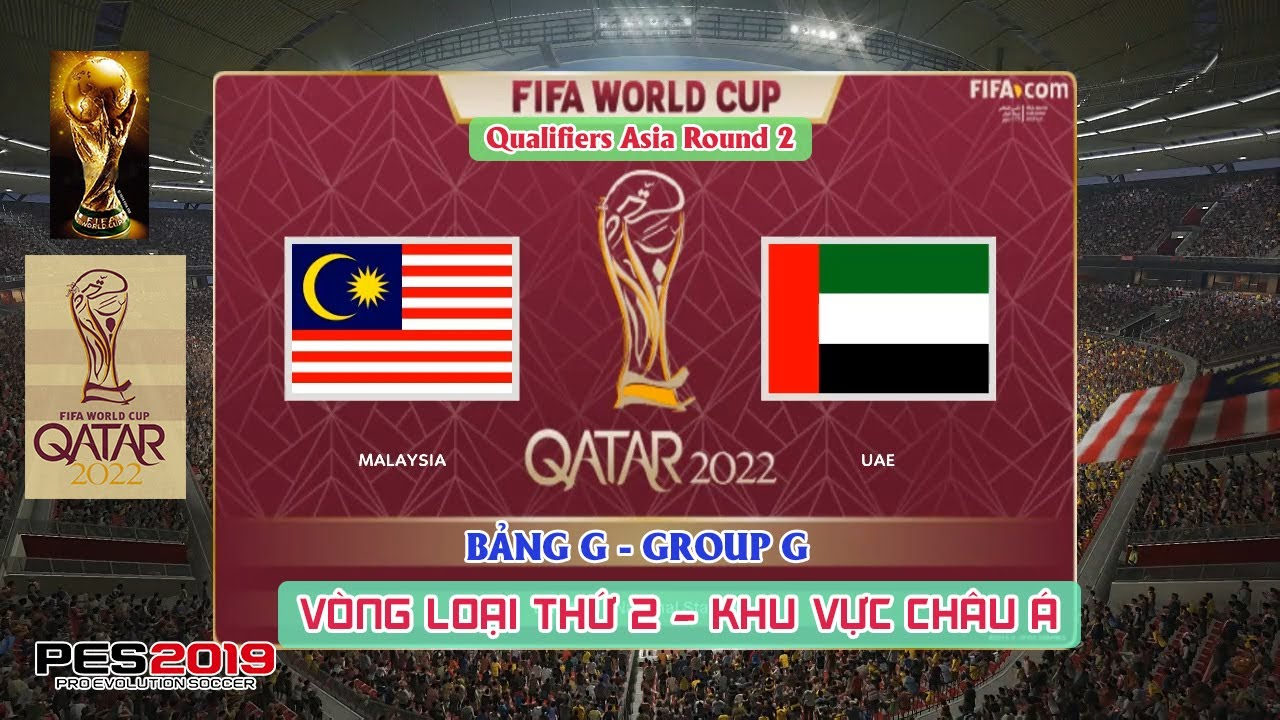 ? Malaysia vs UAE | FIFA WORLD CUP 2022 | L??t Tr?n 2 | Prediction | Gameplay | PES 2019 (PC)
