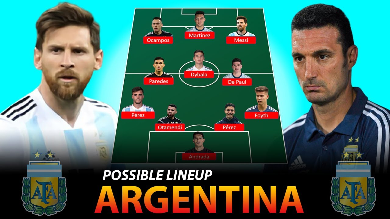 ARGENTINA LINEUP Possible For FIFA World Cup 2022 Qualifiers October Matches 2020