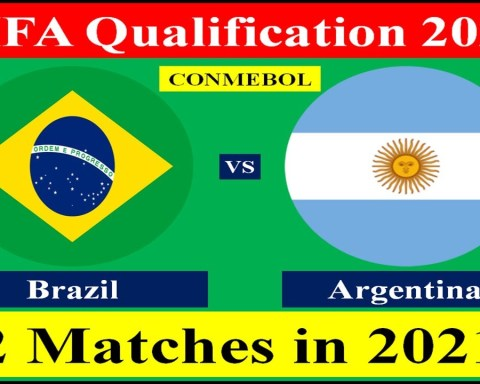 Argentina vs Brazil 2 matches in 2021 of FIFA World Cup 2022 Qualification from South America.