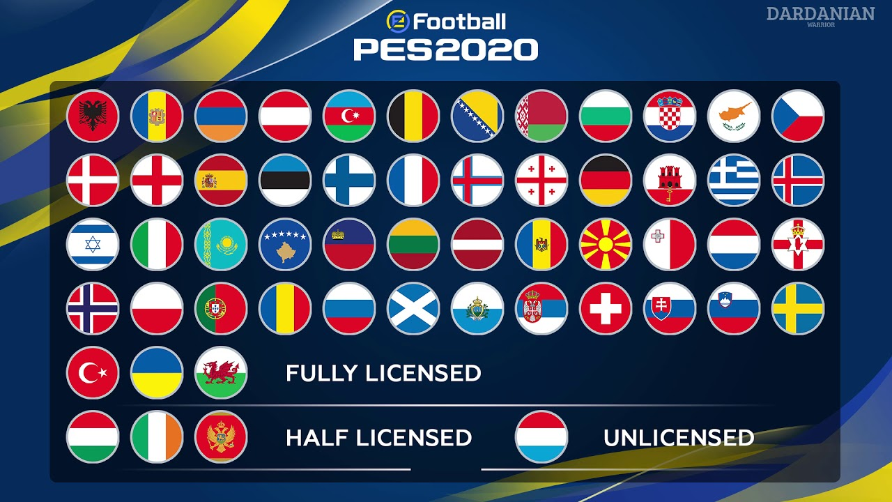 Kosovo in PES 2020! All UEFA members and EURO 2020 in eFootball 2020