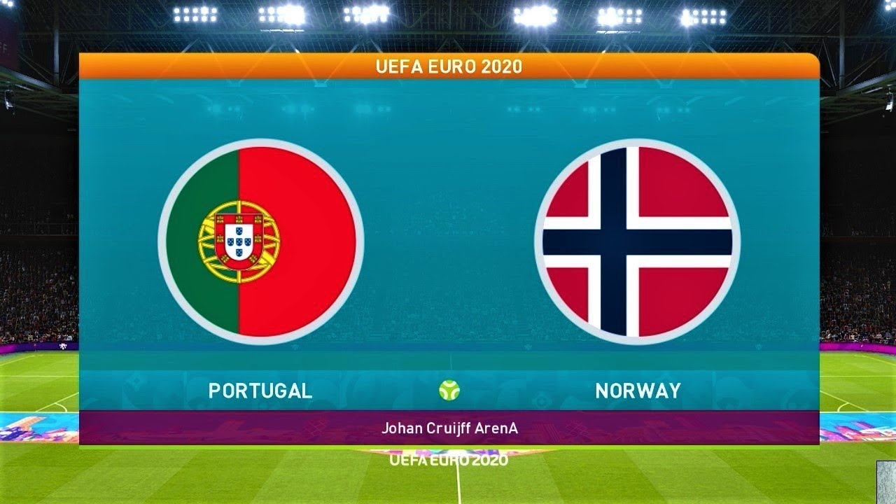 PES 2020 | PORTUGAL vs NORWAY | UEFA EURO 2020 (Matchday 3) | Gameplay PC