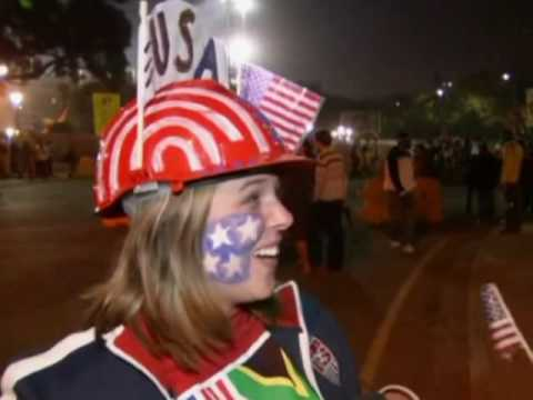 FIFA World Cup 2010 - Amazing last gasp goal from Donovan puts USA through against Algeria