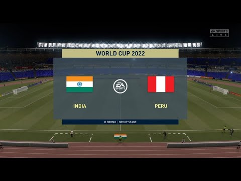 FIFA World cup 2022 - INDIA vs PERU : FIFA 21 Full Match #2