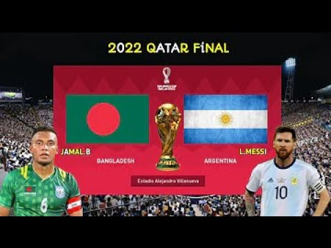 Argentina VS Bangladesh Final Match FIFA World Cup 2022 Animated Video