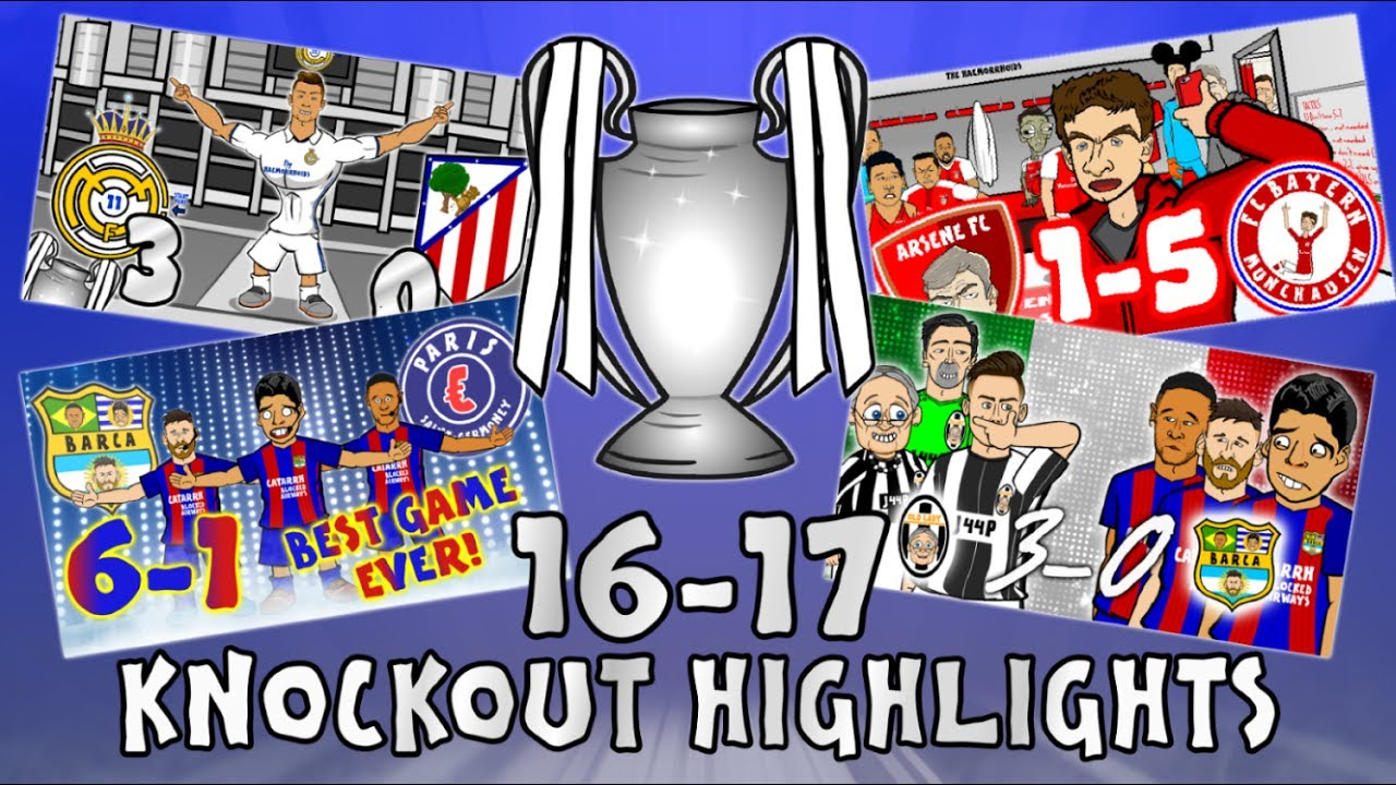 ?UCL KNOCKOUT STAGE HIGHLIGHTS? 2016/2017 UEFA Champions League Best Games and Top Goals