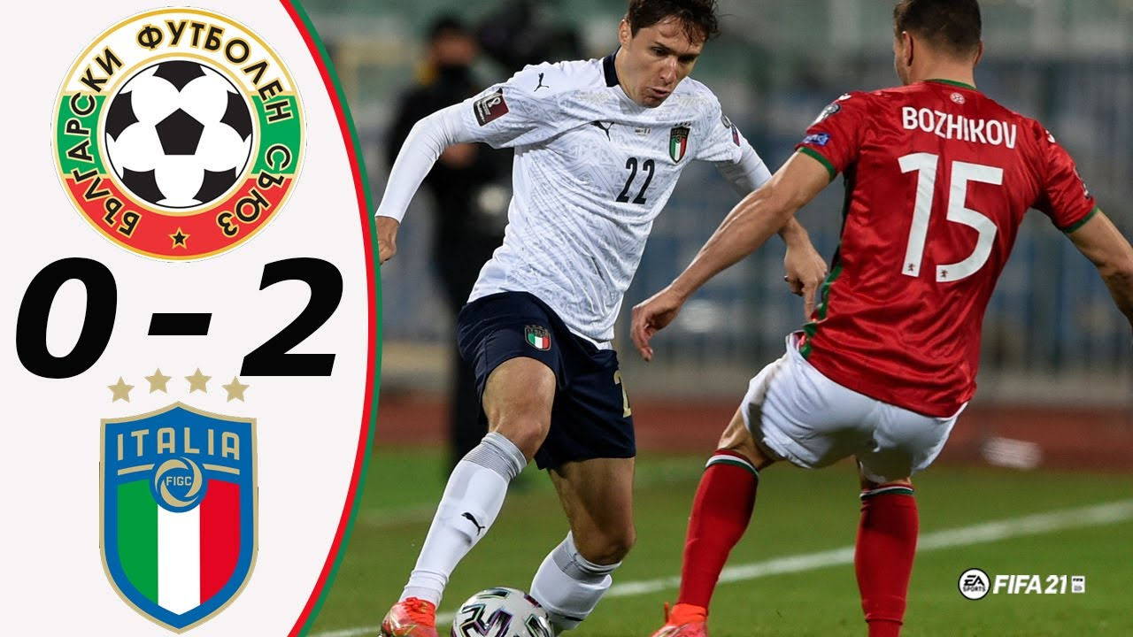 Highlights - Bulgaria vs Italy - World Cup 2022 - Qualifiers   28/03/2021   Fifa 21