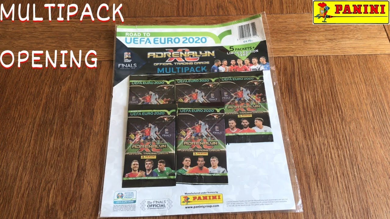 NEW ! PANINI MULTI PACK OPENING! ADRENALYN XL  ROAD TO UEFA EURO 2020