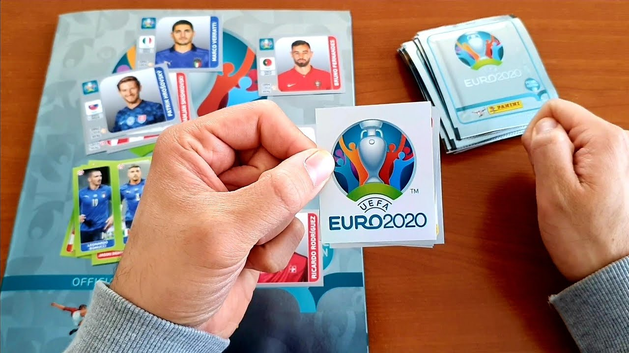 20 PACKS UNBOXING | Panini Euro 2020 Sticker Album Pearl Edition